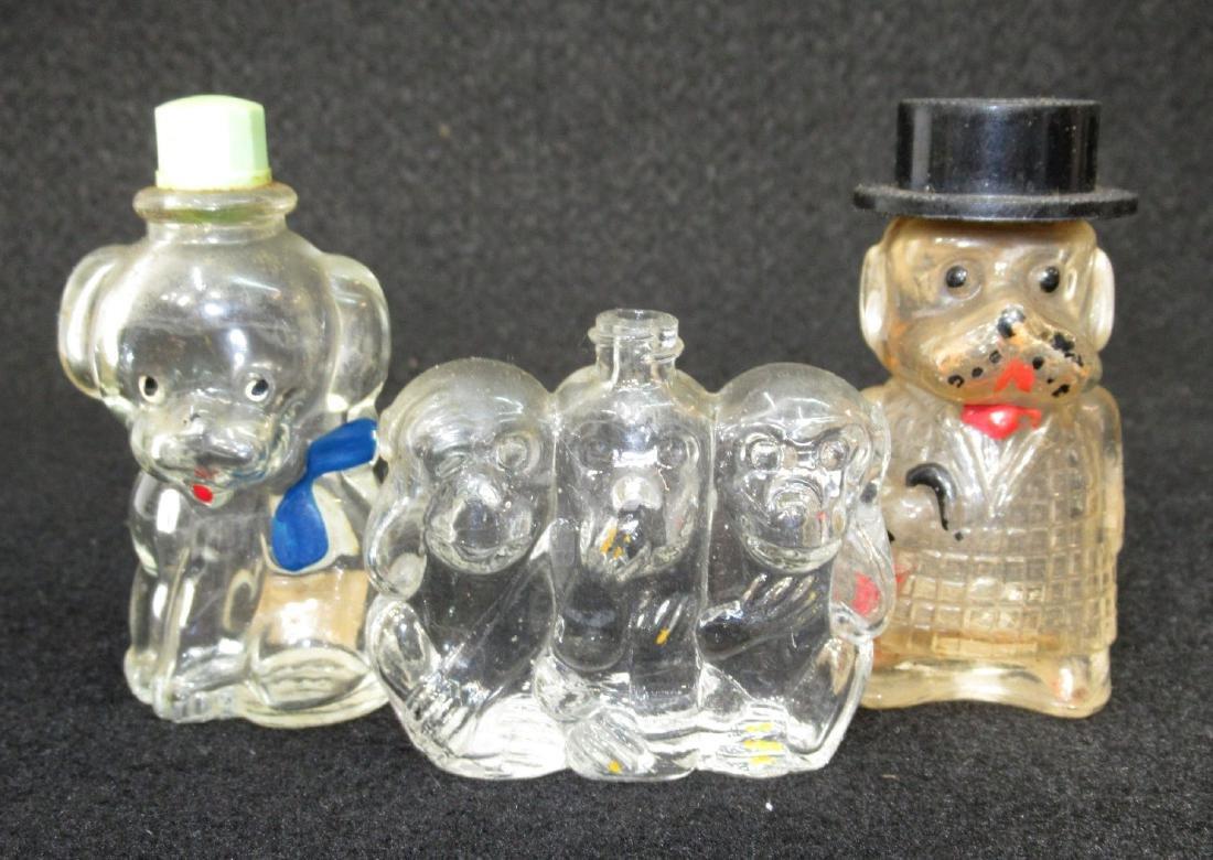 3 Figural Bottles
