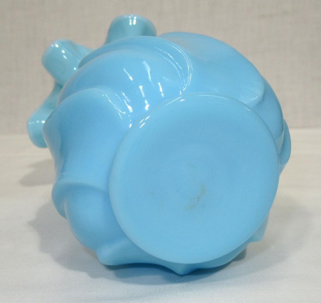 Vict. Blue Opaline Vase - 2