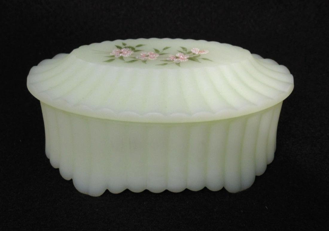 Fenton Custard Glass Box
