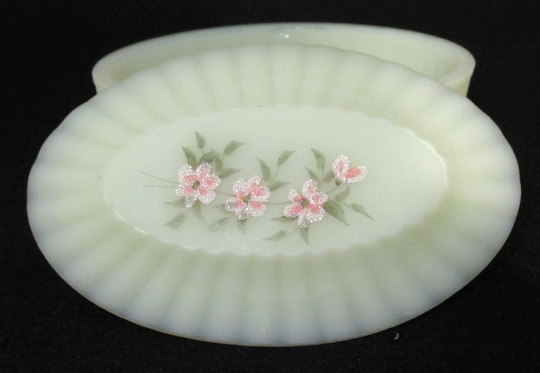 Fenton Custard Glass Box - 2