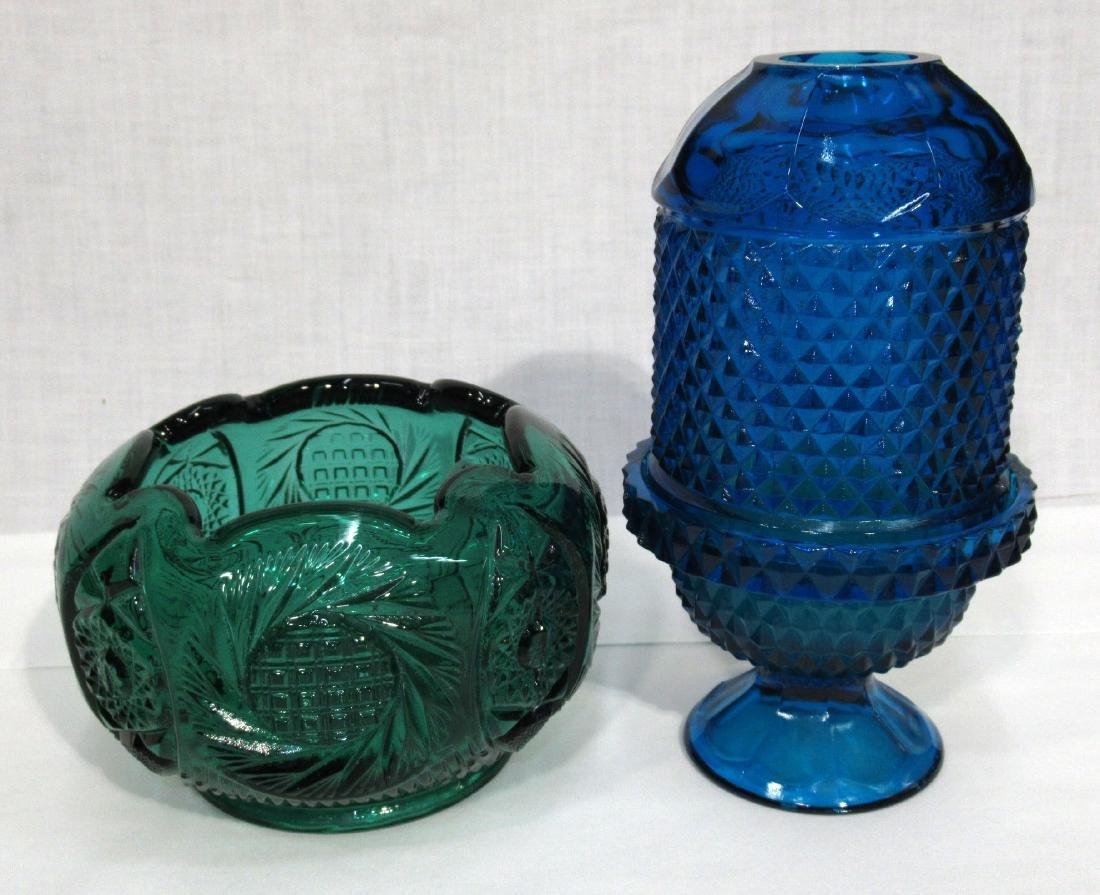 Fenton Rose Bowl & Fairy Lamp