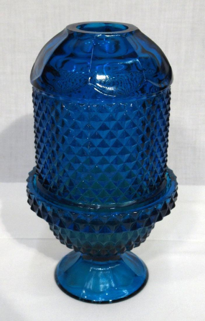 Fenton Rose Bowl & Fairy Lamp - 2