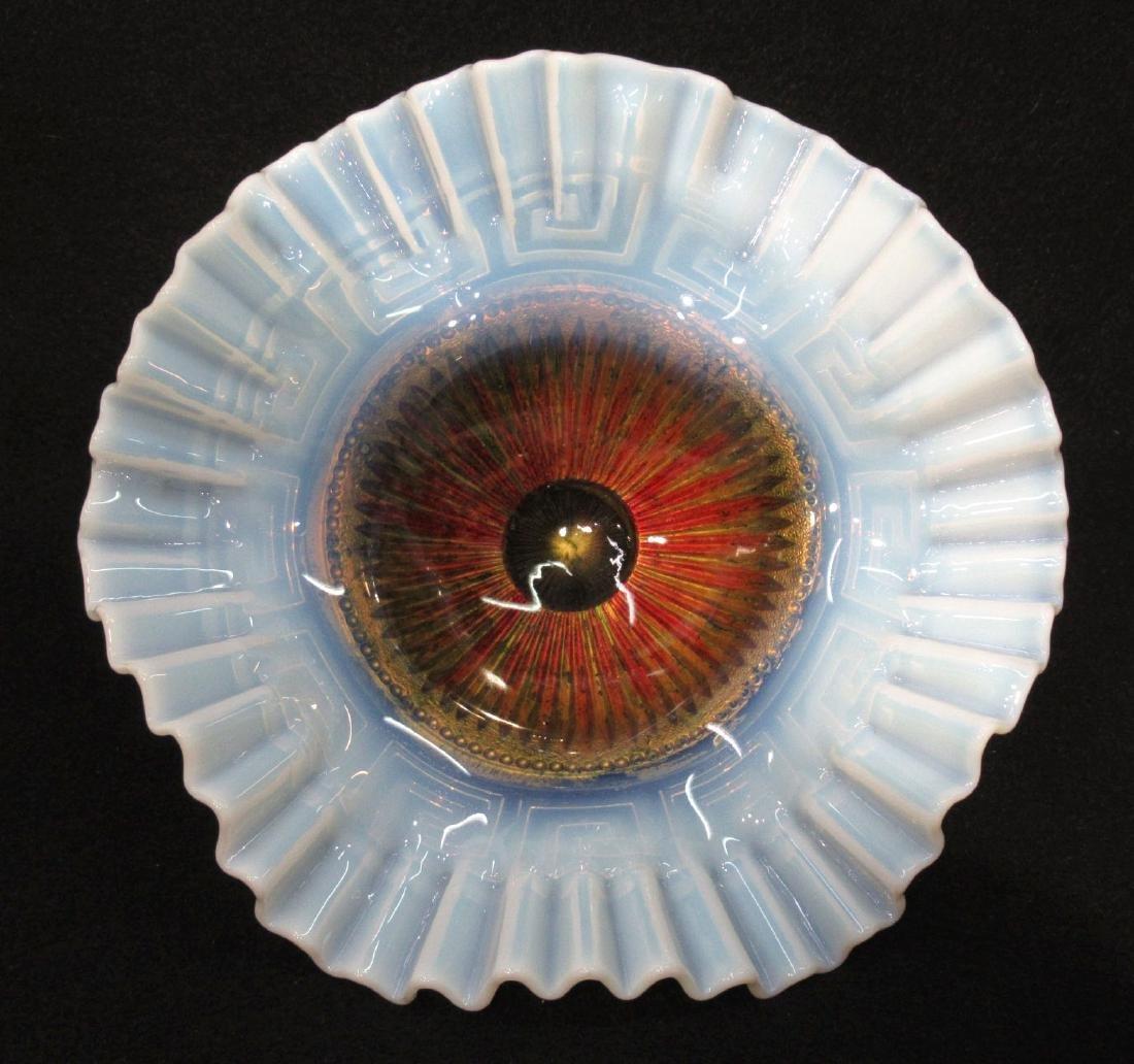 Opalescent Goofus Glass Dish - 2
