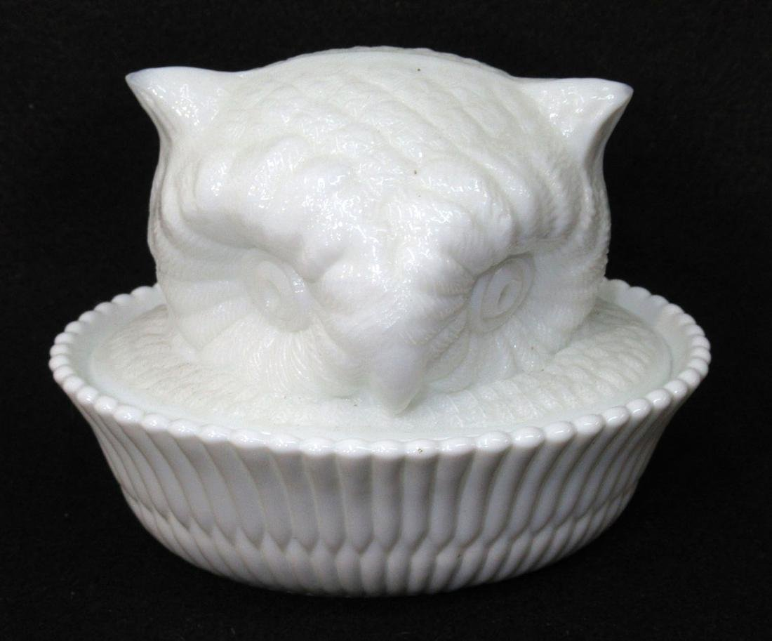 Owl Head Covered Dish