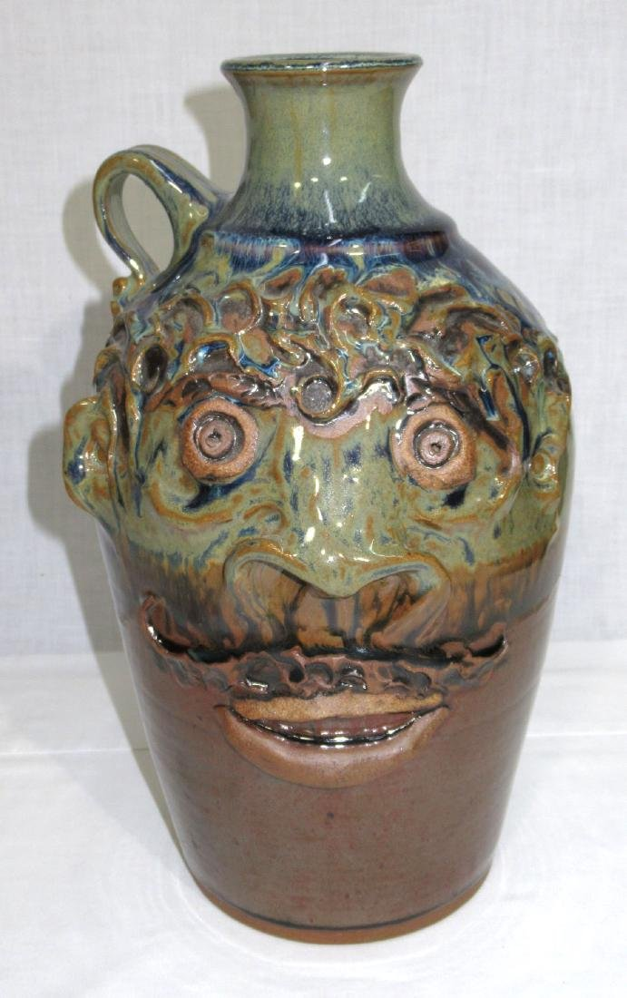 Southern Stoneware Face Jug