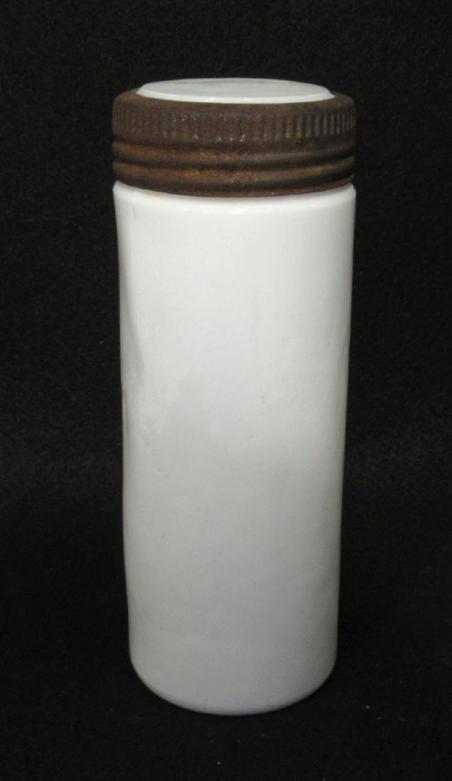 Early Milk Glass Fruit Jar & Lid