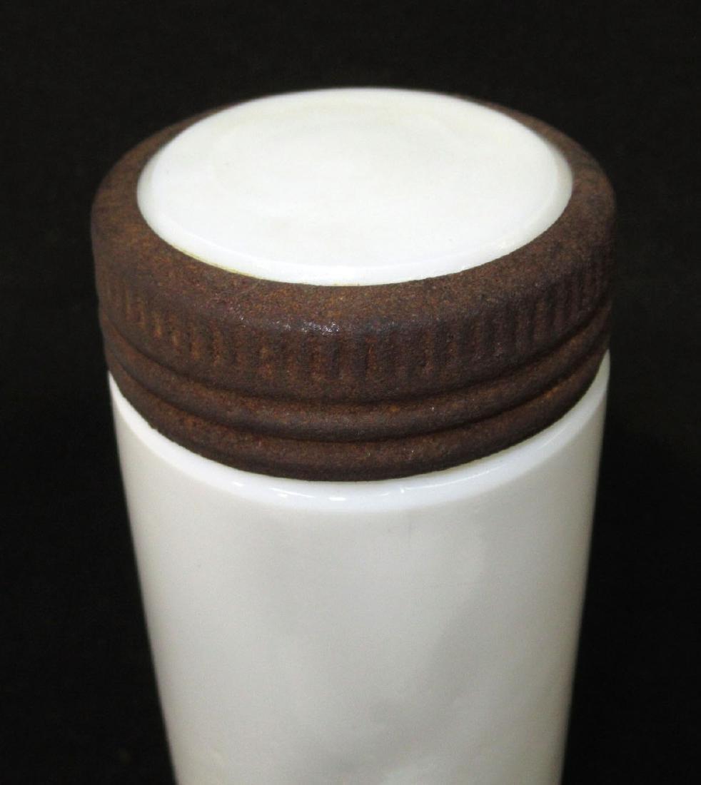 Early Milk Glass Fruit Jar & Lid - 2