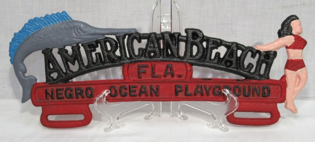 Modern C.I. American Beach License Plate Topper