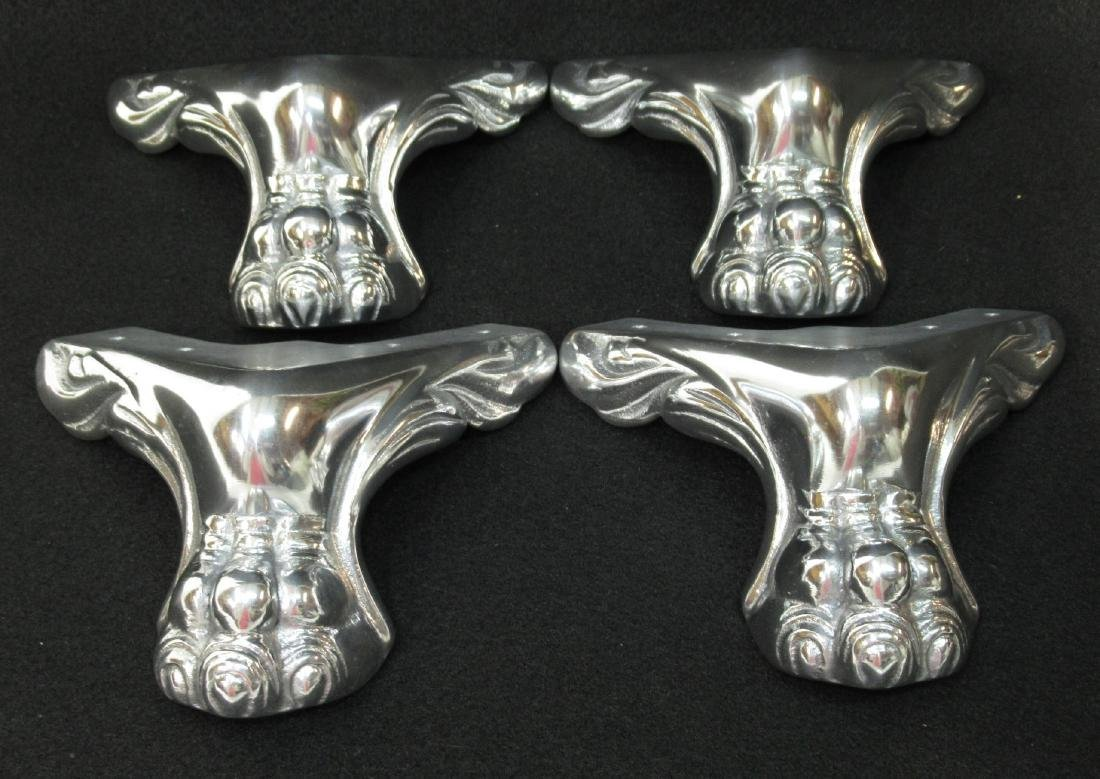 4 Chromed Claw Feet for Slot Machine Base