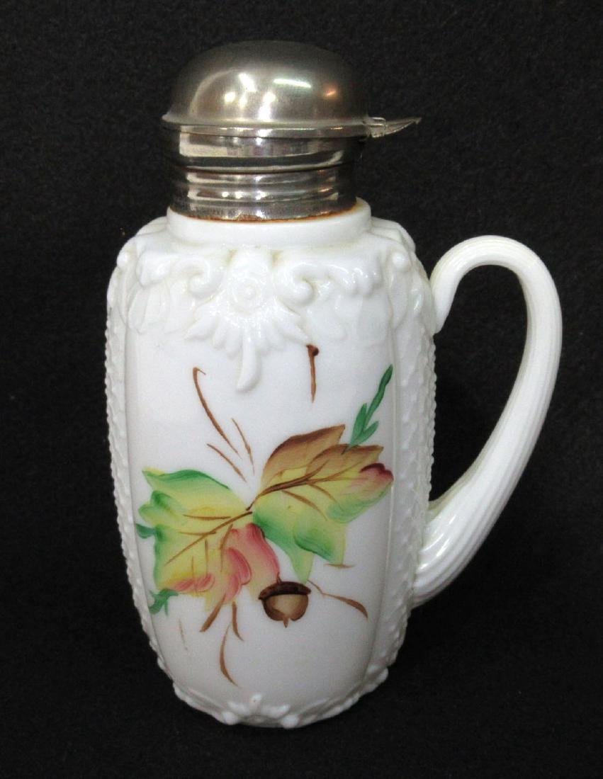 Early H.P. Milk Glass Syrup