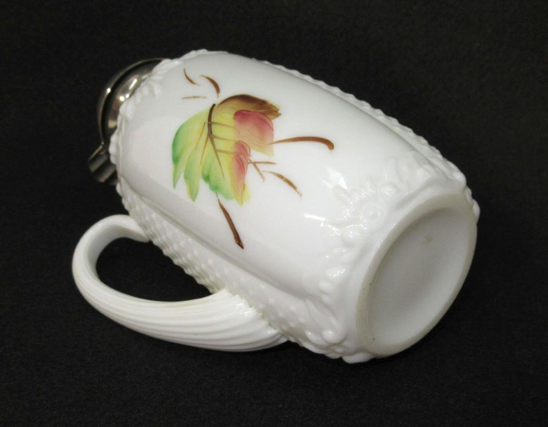 Early H.P. Milk Glass Syrup - 2