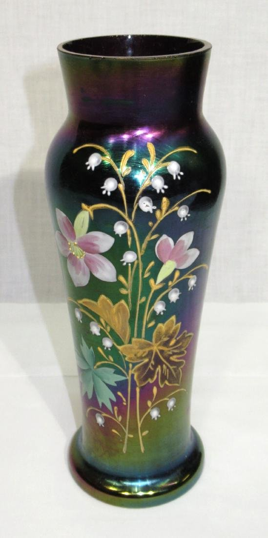 Enameled Art Glass Vase Sgnd. Loetz Austria