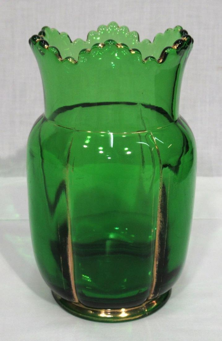 Riverside Green & Gold Vase