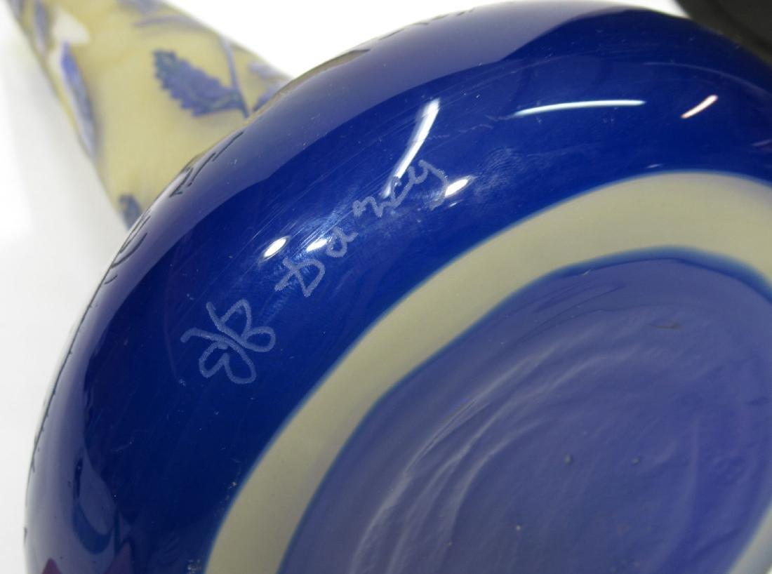 Lg. Antique Cameo Glass Vase - 3