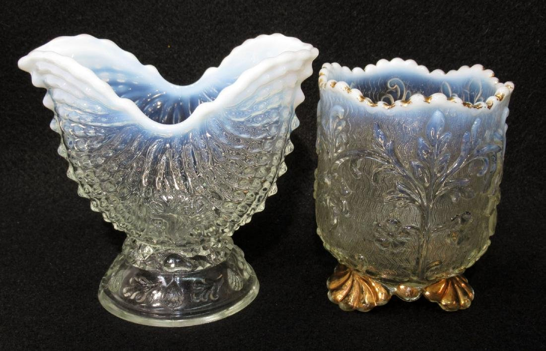2 Opalescent Glass Spooners