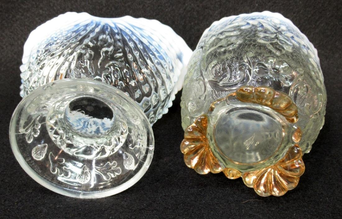 2 Opalescent Glass Spooners - 2