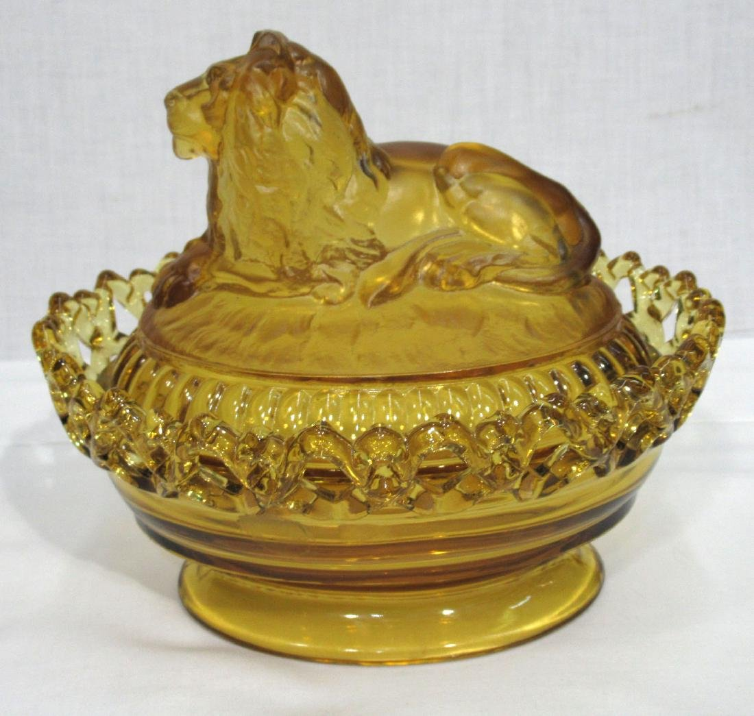Amber Lion Covered Dish