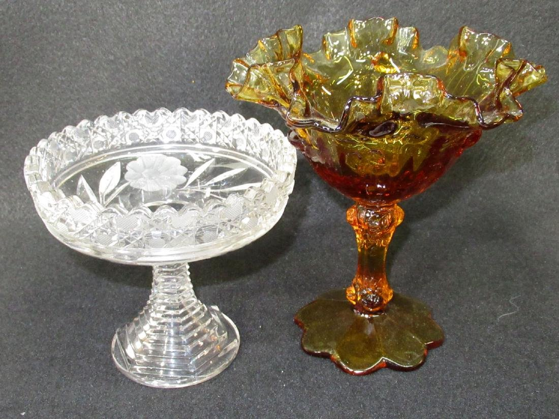 Fenton & Cut Glass Compotes