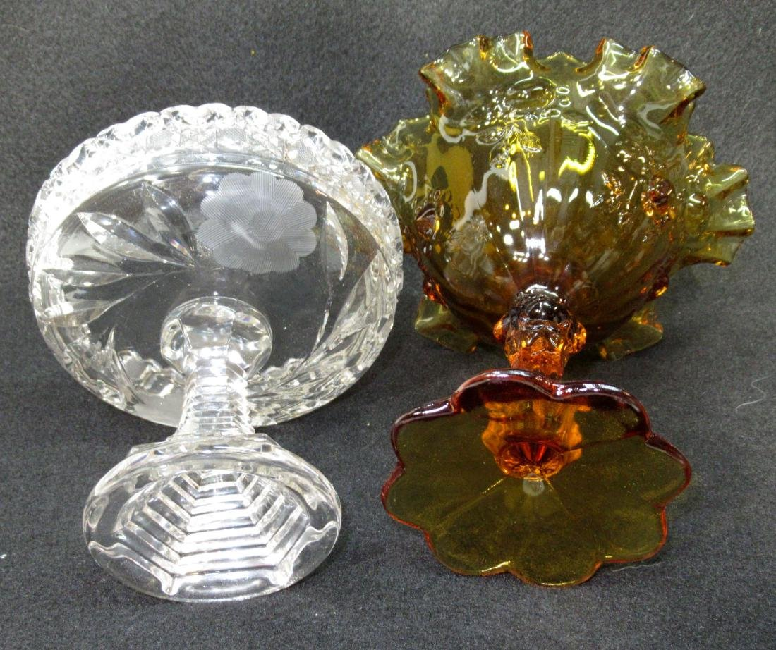 Fenton & Cut Glass Compotes - 2