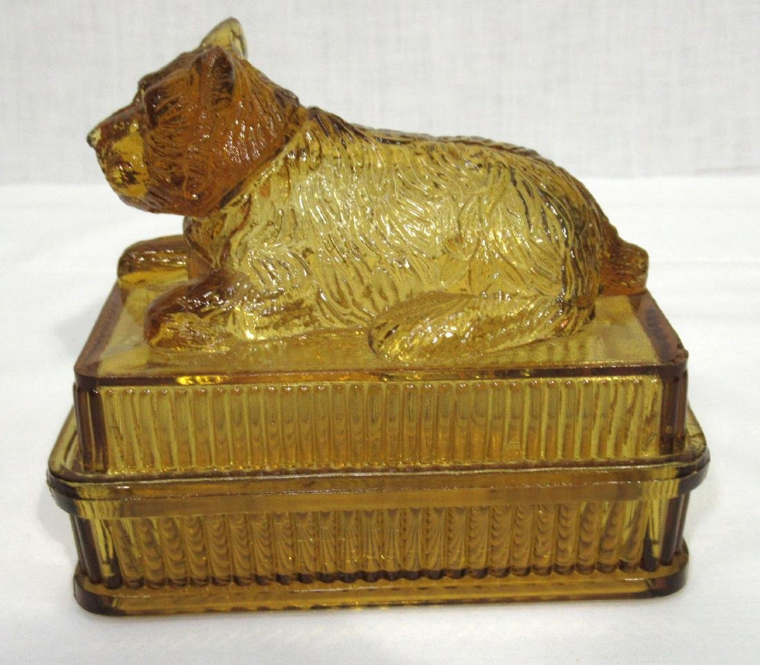 Early Amber Dog Covered Dish