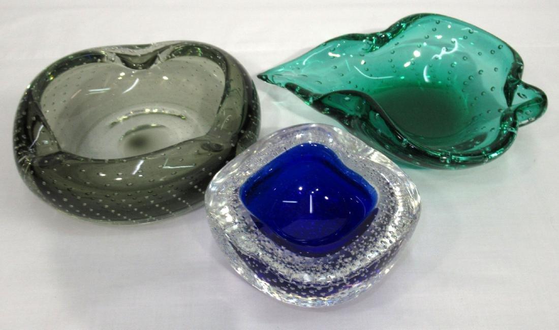 3 Murano Glass Dishes