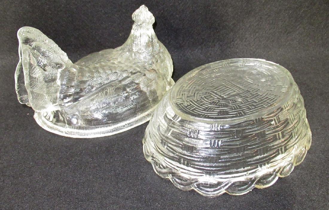 Lg. Glass Hen on Nest - 2