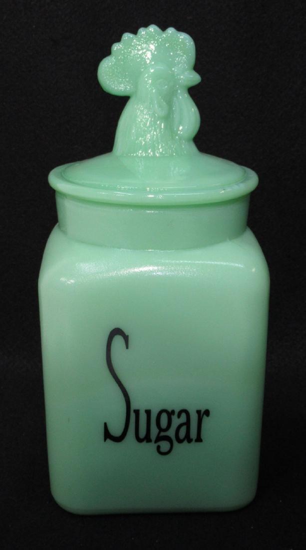 Jadeite Sugar Canister