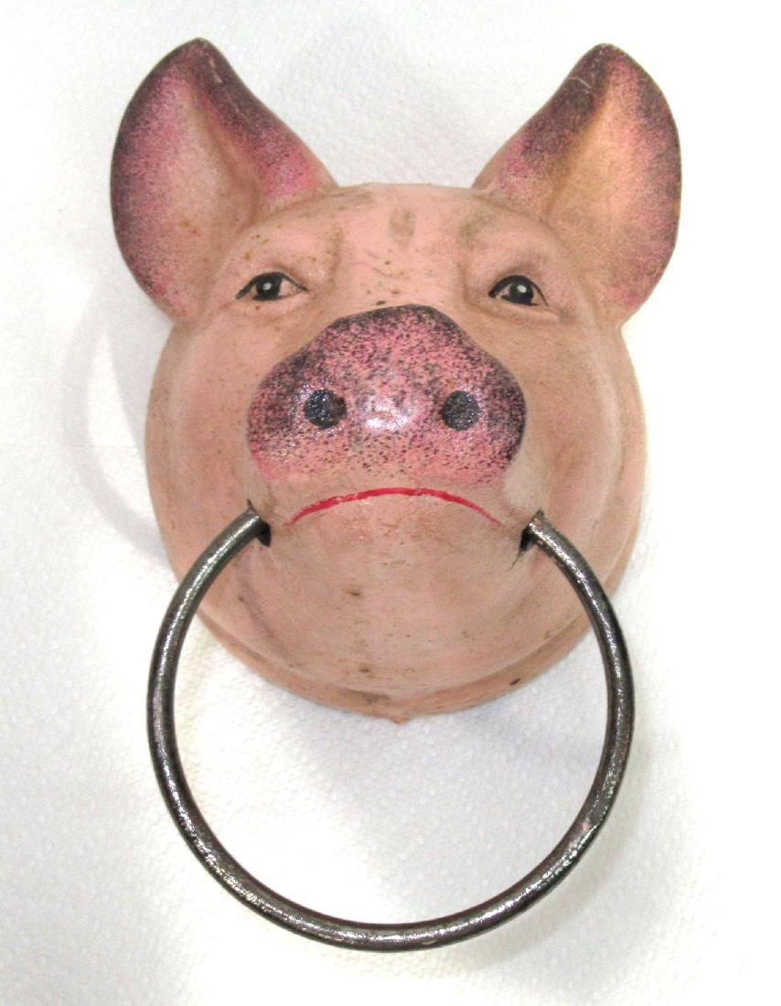 C.I. Pig Hitching or Towel Rack