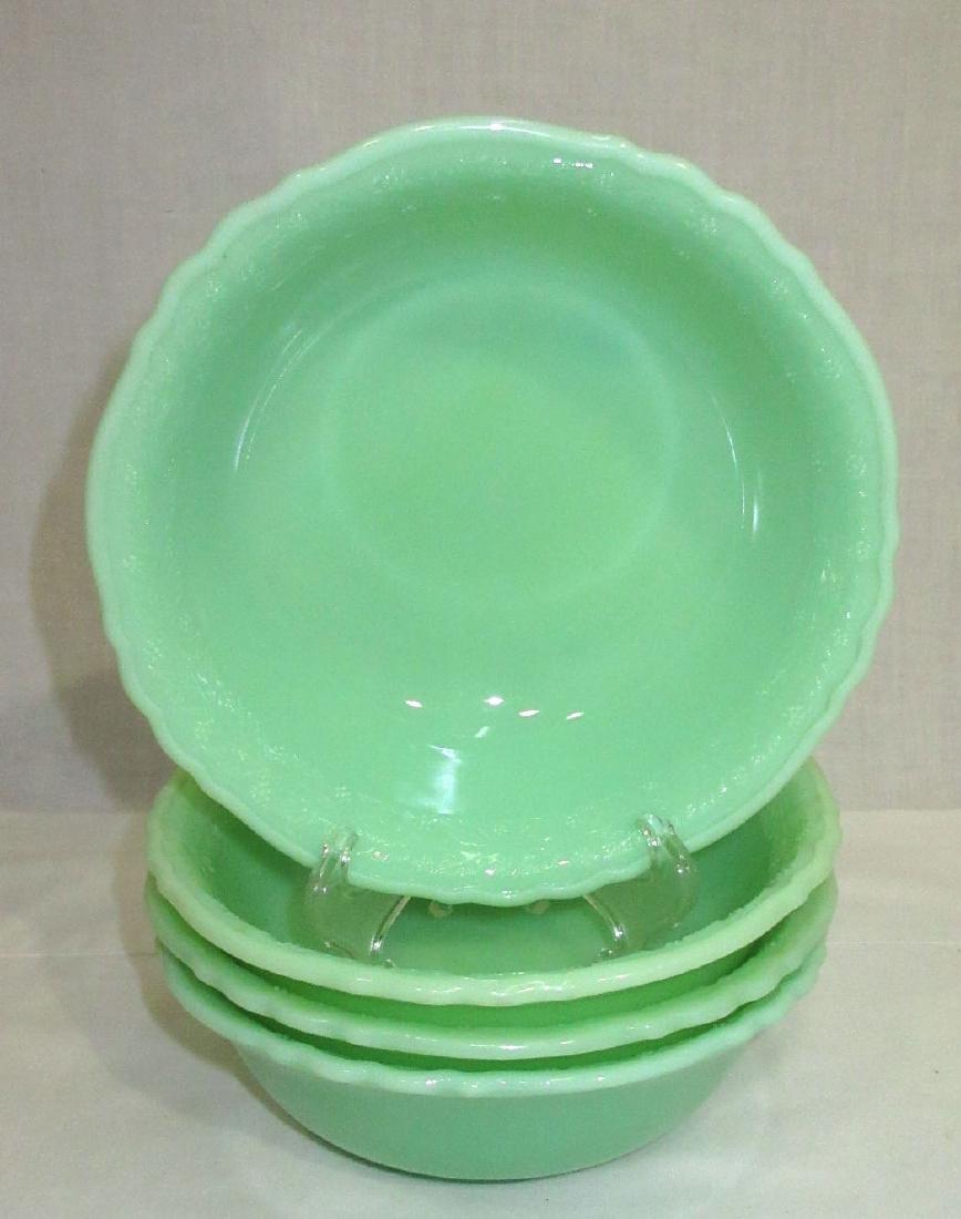 4 McKee Jadeite Bowls