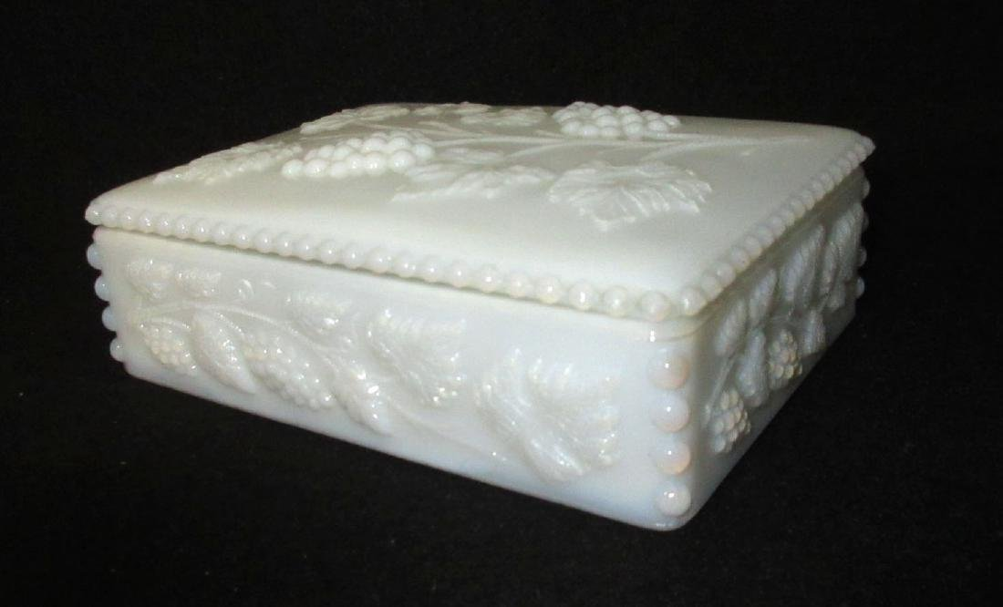 Milk Glass Covered Box