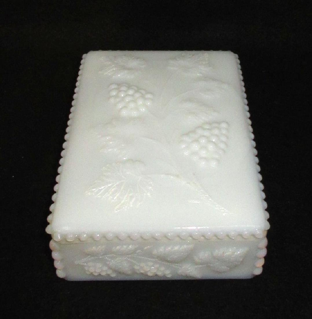 Milk Glass Covered Box - 2