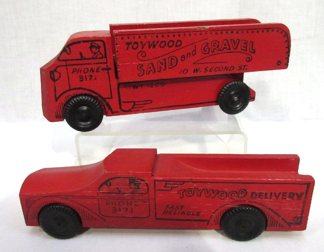 2 Toywood Toy Trucks
