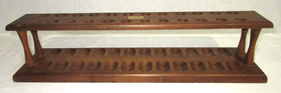 24 Hole Wooden Pipe Rack