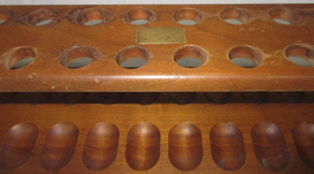 24 Hole Wooden Pipe Rack - 2