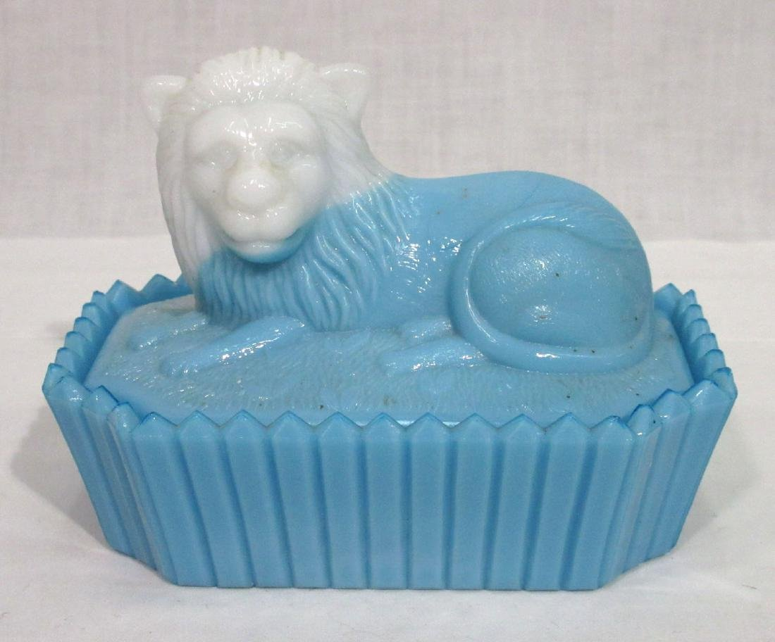 Bi Color Lion Covered Dish