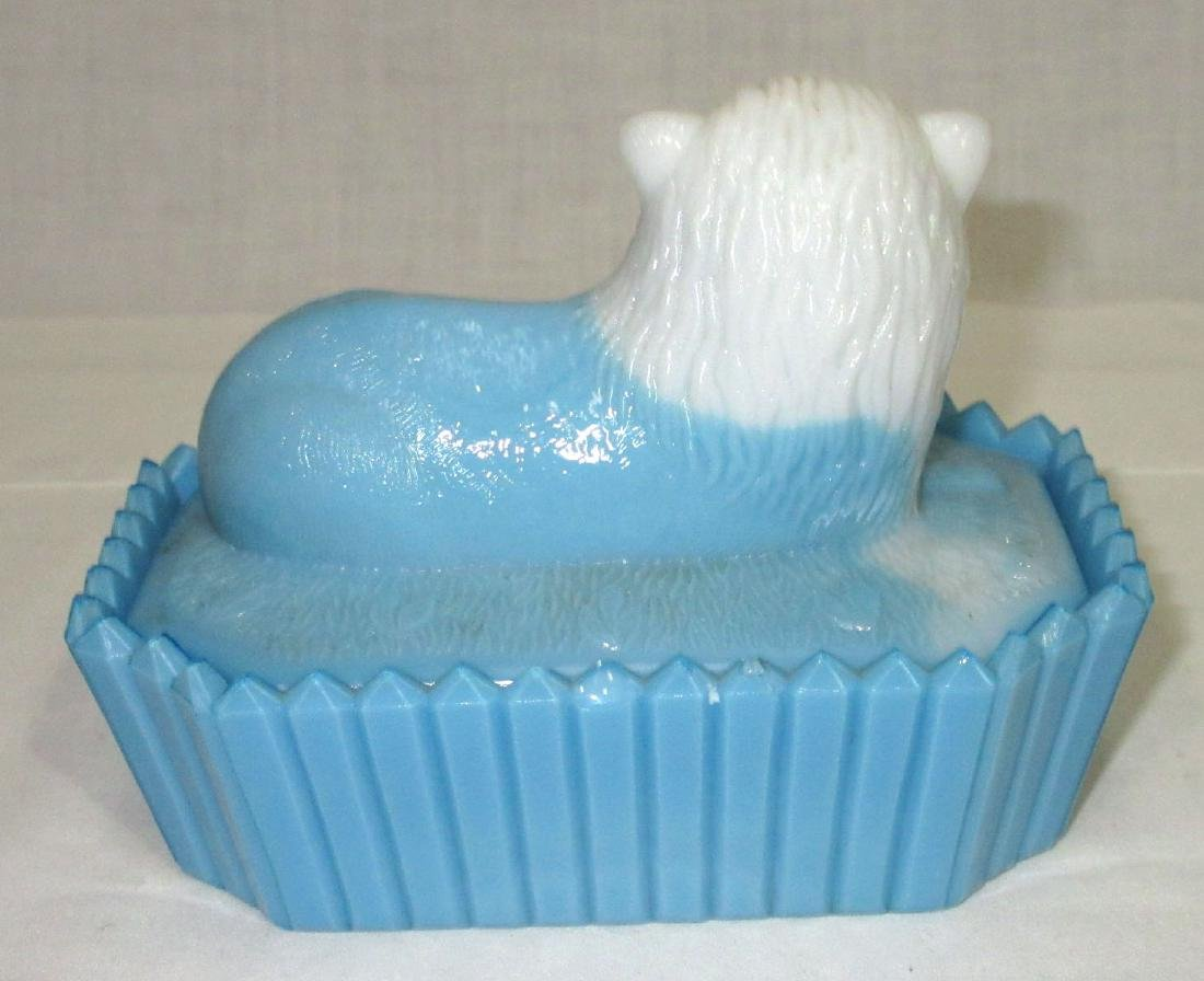 Bi Color Lion Covered Dish - 2