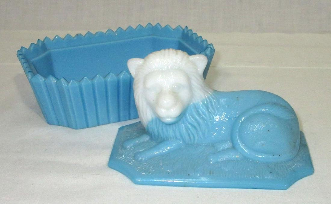 Bi Color Lion Covered Dish - 3