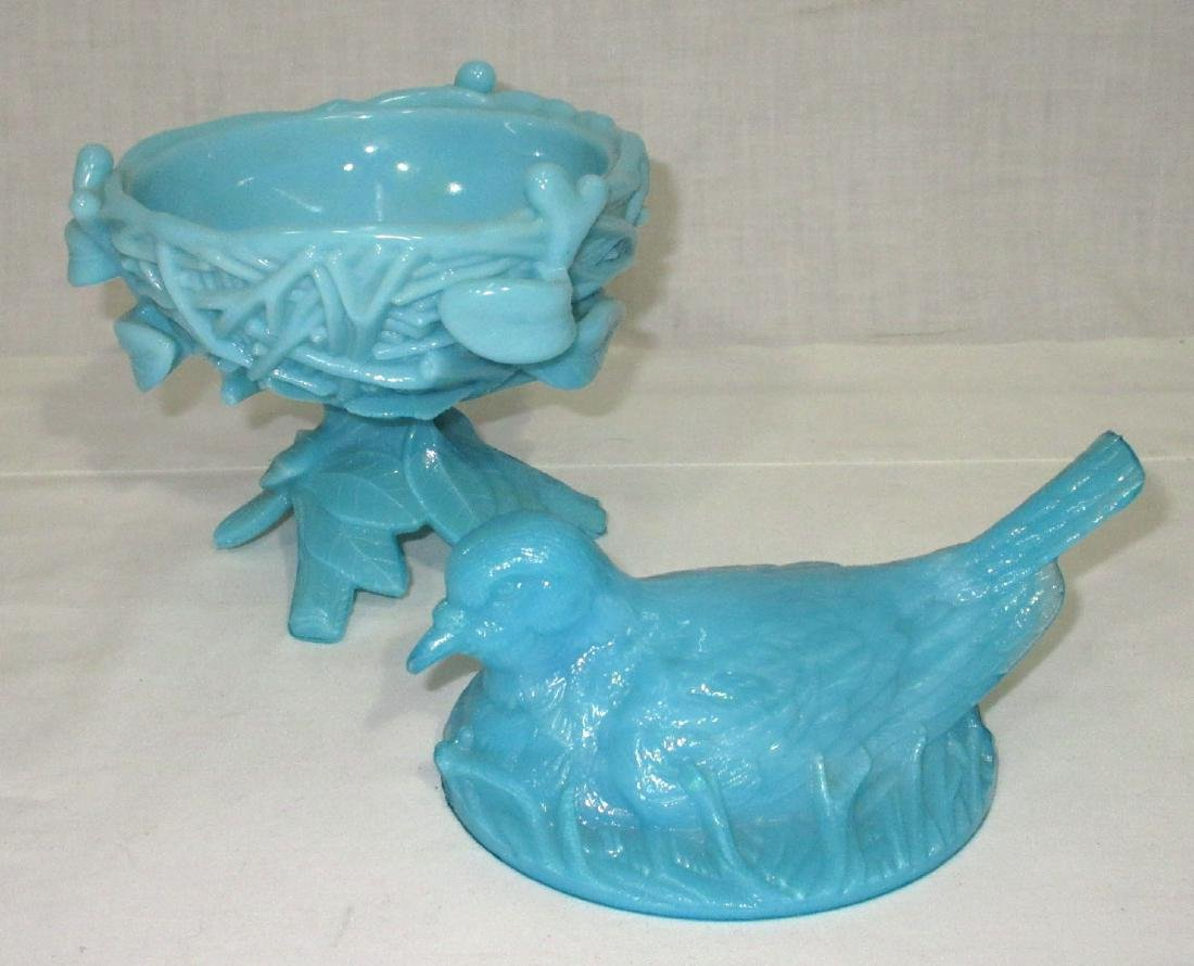 Bird on Nest Covered Dish - 3