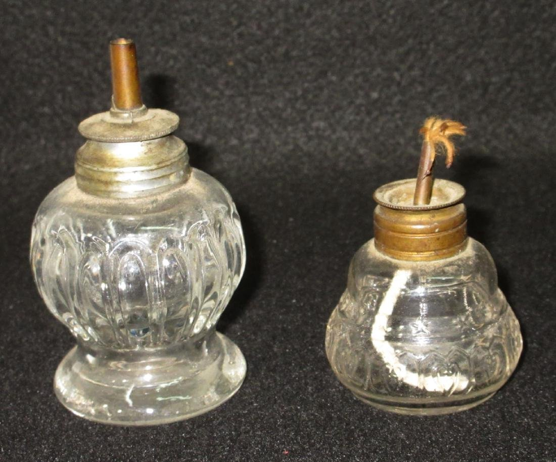 2 Early Whale Oil Lamps - 2
