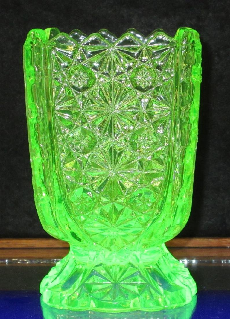 Vaseline Glass Spooners