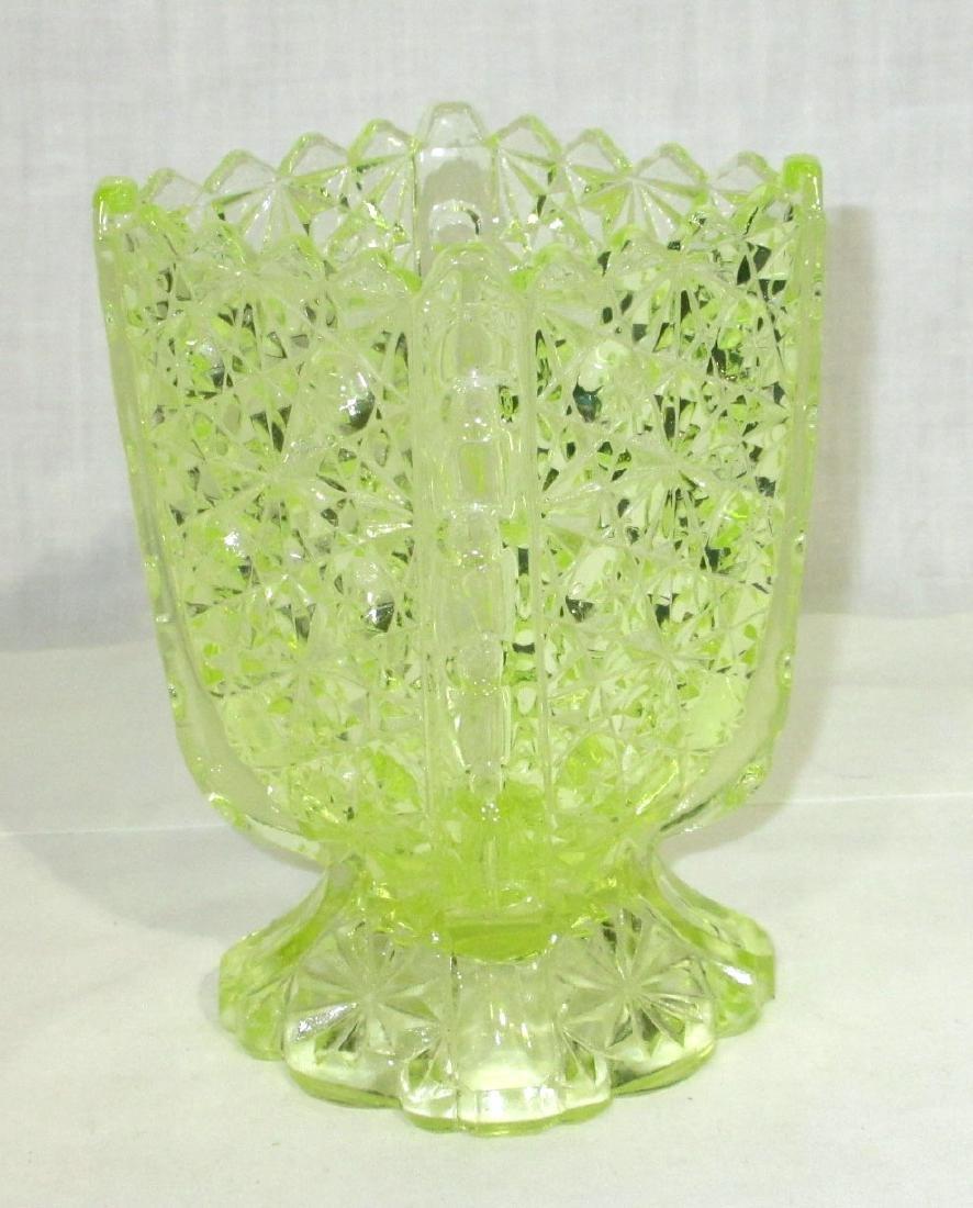 Vaseline Glass Spooners - 2