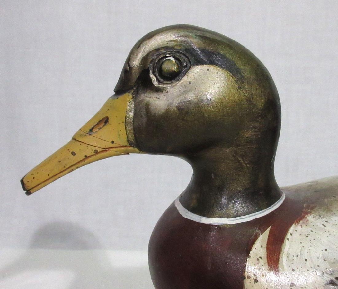 Wooden Standing Duck Decoy - 2