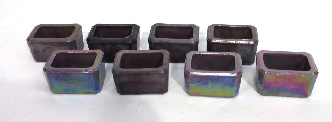 8 Carnival Glass Salts