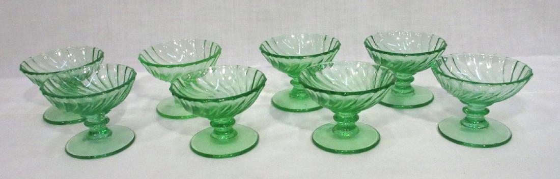 8 Green Pedestal Salts