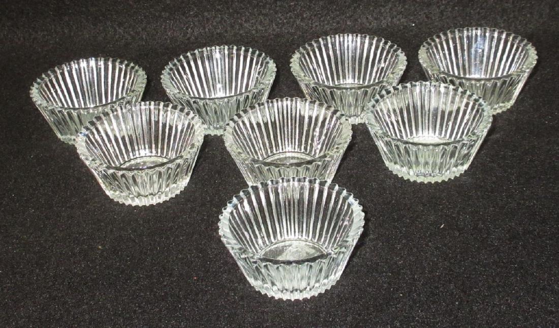 8 Ribbed Glass Salts