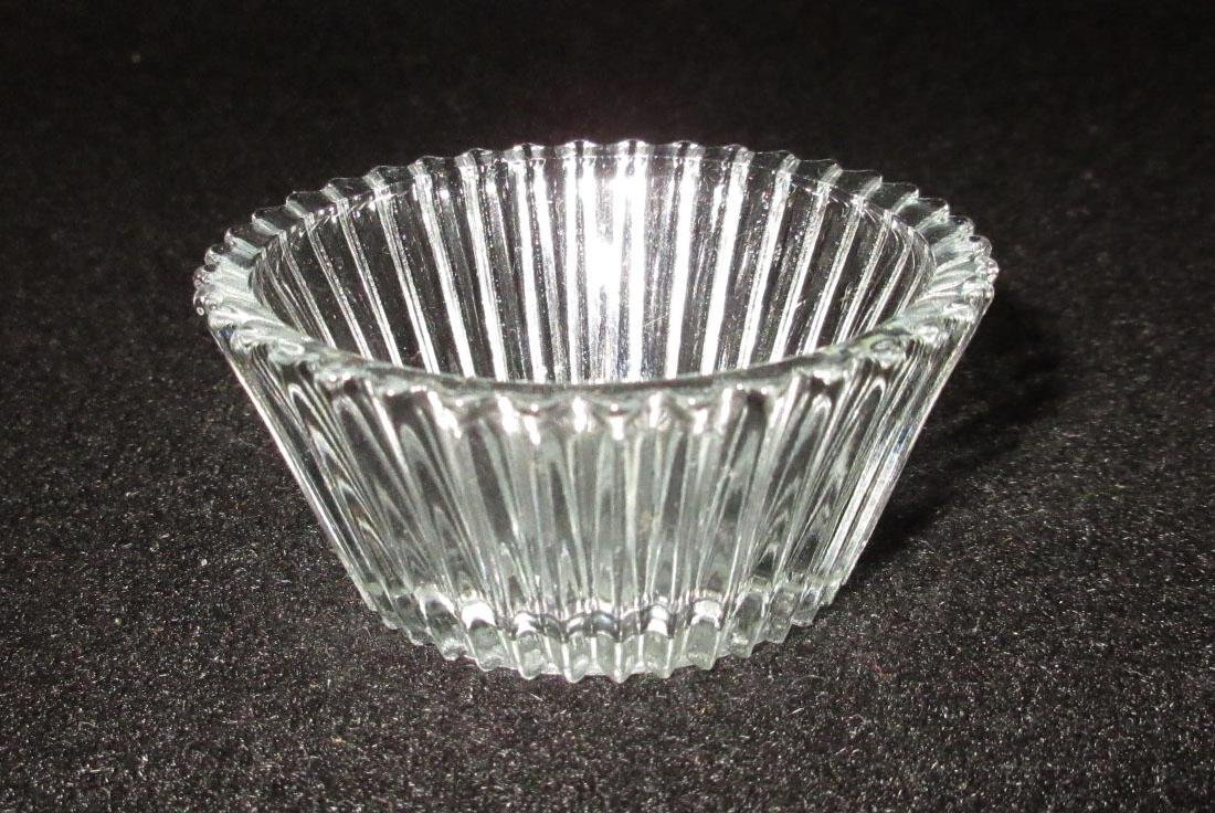 8 Ribbed Glass Salts - 2