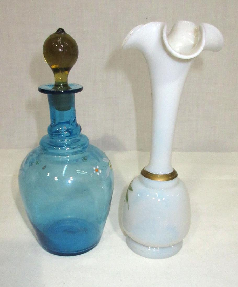 Vict. Enameled Cologne & Vase - 2