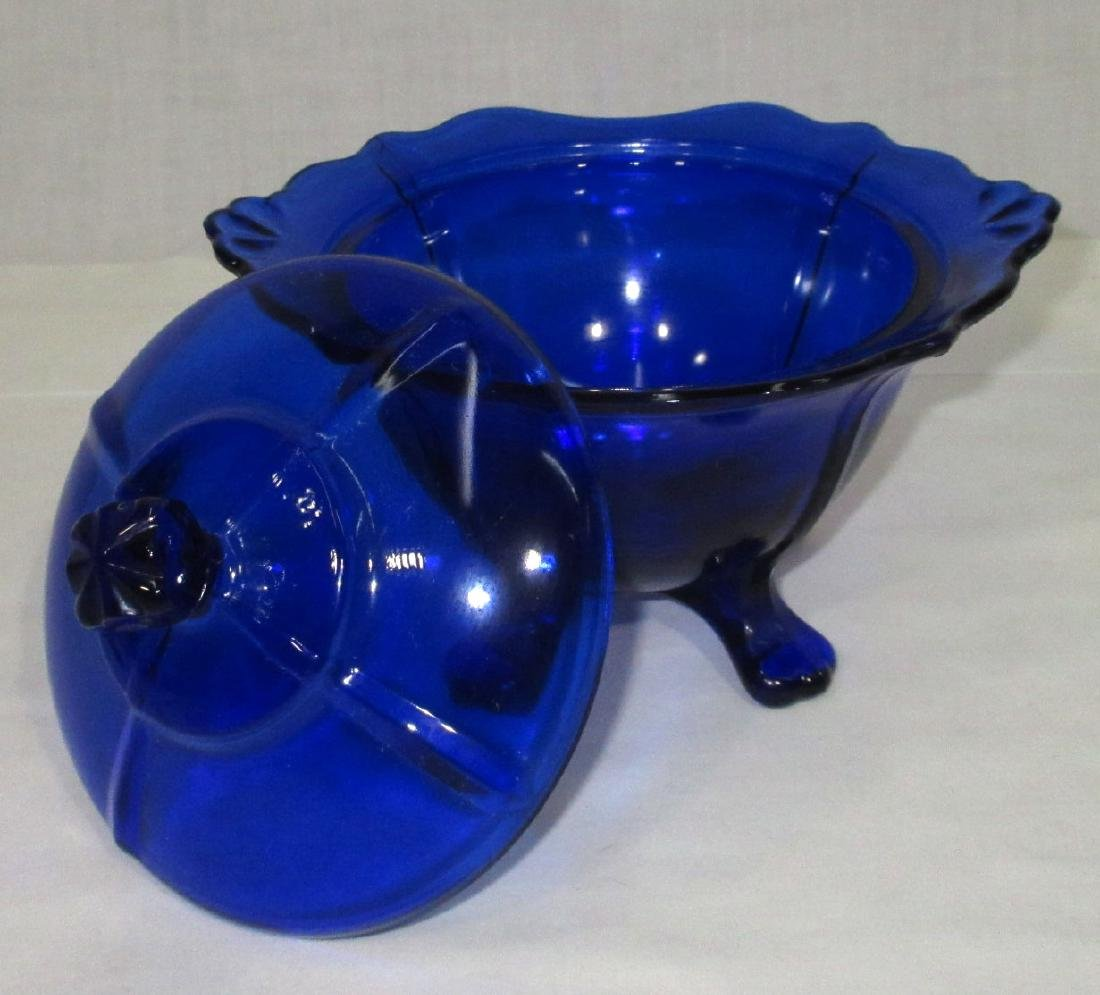 Cobalt Lidded Candy - 2