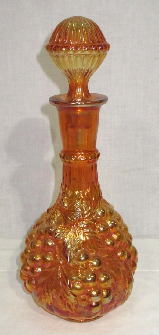 Grape Carnival Glass Bottle