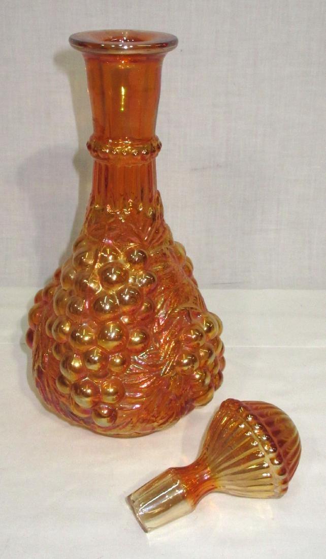 Grape Carnival Glass Bottle - 2